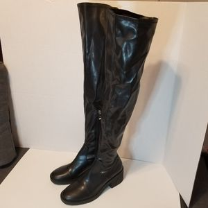 2 FOR 80 Zara Vegan Leather over the Knee Boots